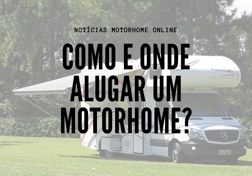 Como alugar um trailer ou motorhome?